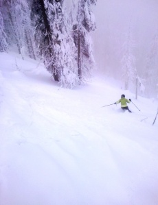 Powder runs...